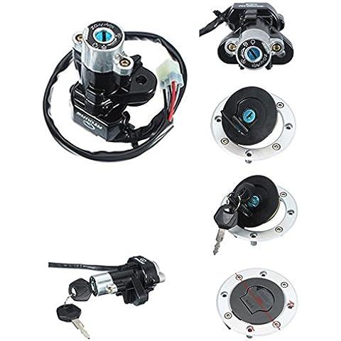 Ungfu Mall Accensione Cap Set serratura con 2chiavi per Suzuki GSXR60097–00GSXR75093–99
