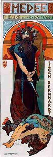 Box Canvas Print (Alphonse Maria Mucha Medee A3 Box Canvas Print)