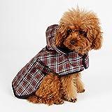 Tierbedarf für Katze und Hund, Haustier-Regenmantel Wasserdichte Hundekleidung Im Freien halten Haustiere trocken und bequem bei nassem Wetter ( Size : L:Back 36cm Chest 40cm )