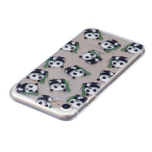 Cover iPhone 7, CaseLover Custodia per iPhone 7 (4.7 Pollici) Ultra Sottile Trasparente Morbida Gomma Gel TPU Silicone Protectiva Corpeture Flessibile Cristallo Chiaro Liscio Antiurto Protezione Bumpe Panda