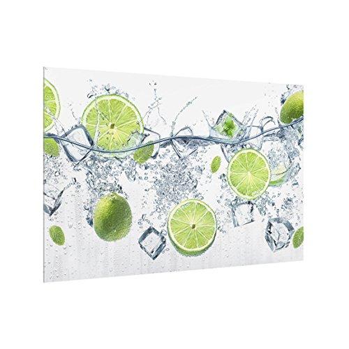 Bilderwelten Spritzschutz Glas - Erfrischende Limette - Quer 2:3, HxB: 40cm x 60cm