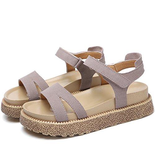 Estate,spessa,scarpe casual/medio heels,sandali-A Lunghezza piede=23.8CM(9.4Inch)