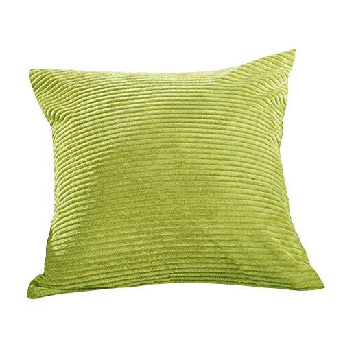 Klassisches Nadelstreifen-Kordsamt-Wurf-Kissen Ketten-Akzent-Dekoratives Grün