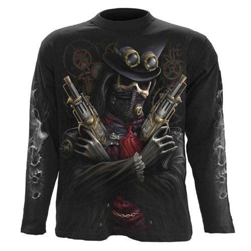 Spiral-Pantaloni Steam Punk Bandit-Maglietta maniche lunghe nero Black XXL