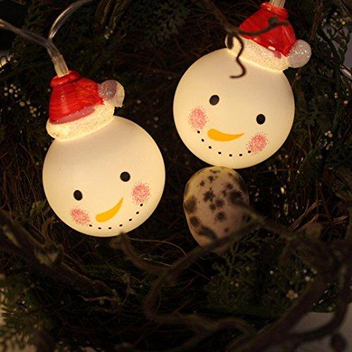 DOLDOA LED Lichterkette,20er Weihnachten Schnee Kopf LED Licht für Outdoor Party, Haus, Hochzeit, Weihnachten, Allerheiligen, Feier Festakt Decor