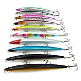 SODIAL 10 Unids/Lote 18 cm 26g Senuelo de Gran Escala Minnow Mar Tackle de Pesca Artificial Duro appat Hook -Senuelos