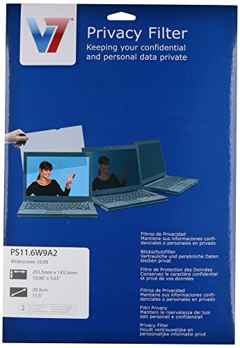 V7 11.6 inch Matt/Glossy Privacy Filter for Notebooks and Ultrabooks