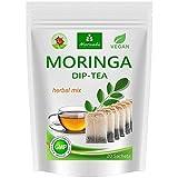 Moringa Tee 100% natur (wahlweise Kräuter-Mix, Apfel-Zimt, Granatapfel, Ingwer, Minze). Qualitätsprod. von MoriVeda (20 Beutel Moringa Kräuter-Mix)