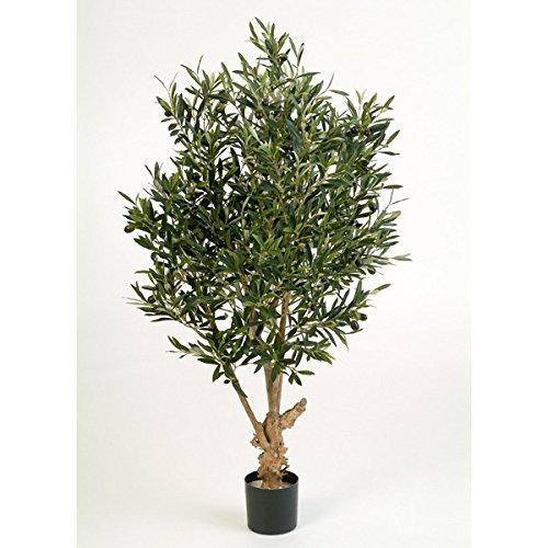 artplants – Deko Olivenbaum Alexandros, mit 2288 Blättern, 120 cm – künstlicher Baum/Olivenbaum künstlich