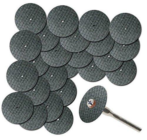 Generic 25PC 1-1/5,1cm Fiberglas verstärkte Trennscheibe Disc mit 1mandre 1/20,3cm für Dremel Werkzeug (Verstärkte Trennscheibe Dremel)
