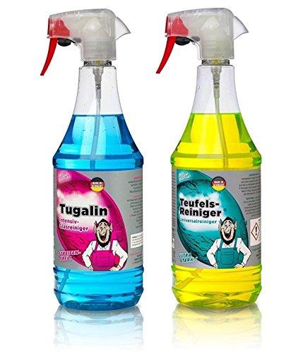 Preisvergleich Produktbild Tuga Profi Putz Set Tuga Alles Reiniger plus Nano Glasreiniger je 1 Liter
