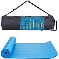 Colchoneta de Yoga Antideslizante Esterillas de Pilates, Alfombrilla de Yoga Estera Antideslizante Ultra Gruesa con Adecuada para Ejercicios Pilates Fitness Workout , 183cm x 61cmx1cm (Azul)
