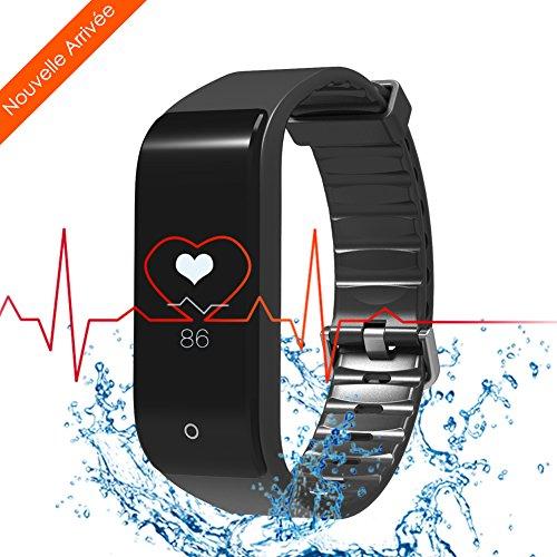Bracelet Connectée RIVERSONG® WAVE FIT Tracker d'Activité Moniteur de Fréquence Cardiaque Smart Bracelet Bluetooth 4.0 Sommeil tracker Pedomètre Sport Activity Tracker pour iPhone Android Téléphones