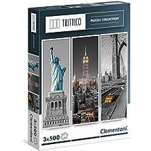 Clementoni - Puzzle Trittico 3 x 500 piezas New York (39305)