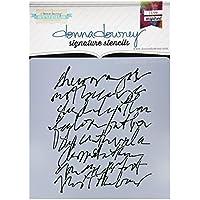 Donna Downey Schablonen Kunststoff Signature 21,6x 21,6cm, Scribble Script