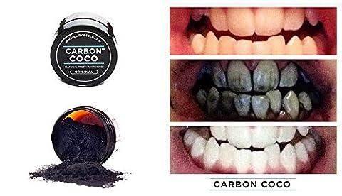 Carbon Coco Aktivkohle Zahnpolitur , Zahnaufheller für natürlich weiße Zähne Zahn Bleaching, frischer Atem, helle Zähne natürliche Zahnaufhellung, aktiv Kohle, von CARBON