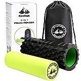 REEHUT Fitness Rodillo de Espuma 2-en-1 para Puntos Desencadenantes y Masaje para Músculos Dolorosos, Músculos Tensos + Rodillos Lisos 45 * 14cm