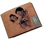 Personalisierte Foto Bild Brieftaschen Männer Kreditkarteninhaber Bifold Geldbörse für Vatertag Geschenk