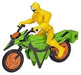 Power Rangers 43572Ninja Acciaio Mega Morph Ciclo con Yellow Ranger