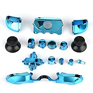 Zerone Full Button Set für Xbox One, Thumbsticks ABXY Buttons Dpad Trigger Full Buttons Set Mod Kits für Xbox One Controller