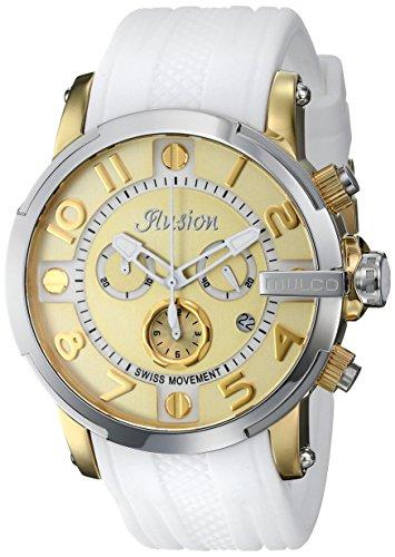 Mulco MW3–12239–012Ilusion roll orologio analogico display svizzero quarzo bianco