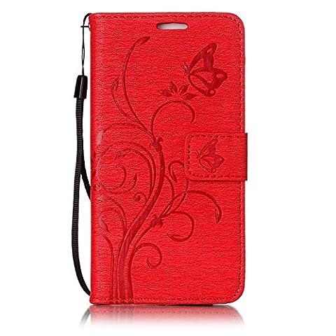 Huawei P10 Wallet Case Flip Hülle , COZY HUT Ledertasche Schutzhülle Leder Tasche Case Cover für Huawei P10 5.1