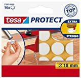 Tesa Protect Filzgleiter, rund, Ø18mm, weiß, 16 Stück