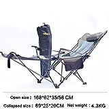 CCSUN Al Aire Libre Plegable Silla, Reclinables Lounge Chair Portátil Butaca Trasera Silla de Playa Silla Cama de Siesta-C L168xH62cm(66x24inch)