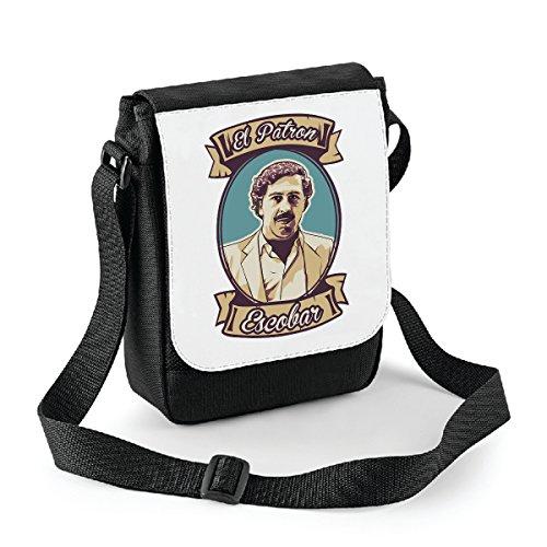 Mini borsa a tracolla El Patron Escobar - Pablo Escobar - Narcos - serie tv - Bianco