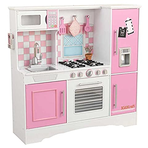 KidKraft Composite Wood Culinary Kitchen Play Set in Pastel for Kids 3 Years Up