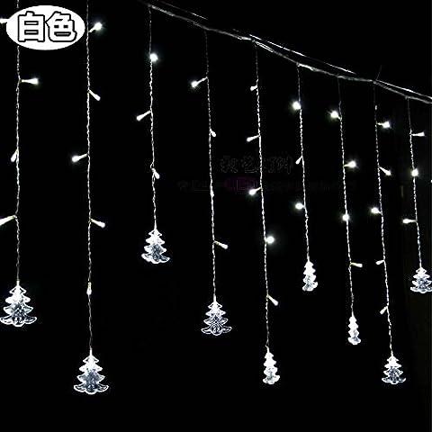 Illuminazione per esterni per case Natale Decorazioni Patio Holiday albero di Natale le luci a LED lampeggianti spie luci,Bianco 4 m bar di ghiaccio