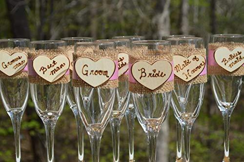 CELYCASY Brille, Brautjungfer-Geschenke, Brautjungfer-Geschenke, Bräutigamer und Brautjungfern Champagnerflöten, Toast-Flöten (Flöte Brautjungfer)