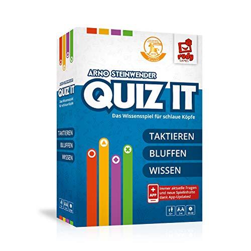rudy games Quiz IT 2019-Interaktives Wissensspiel für schlaue Köpfe Quizspiel mit App ab 12 Jahren, Mehrfarbig, bunt