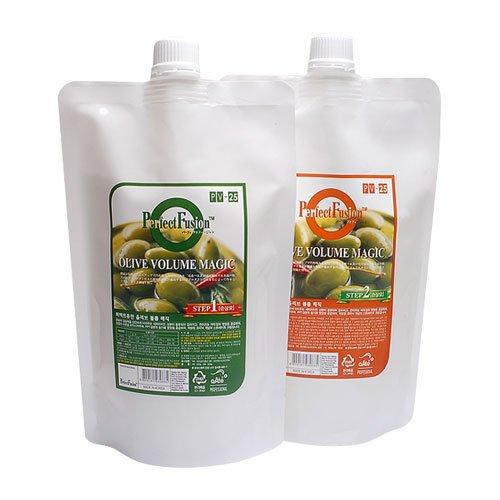 [Boncosmetic] Perfect Fusion Olive Volume Magic 1000 ml à lisser Lot/TYPE de cheveux abîmés