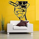 Main Tir Cigare Affiche Amovible Stickers Muraux pour Salon De Mode De Style Art...