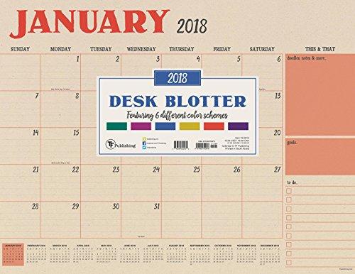 TF Publishing 5.125,7cm Kraft mensile sottomano da scrivania calendario