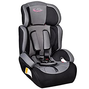 TecTake 400182 Children's Car Seat Group I / II / III (Weight 9 to 36 kg / Age 1 to 12 Years) Black / Grey