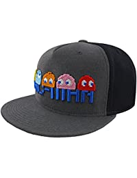 Pac-Man Characters Embroidered Snapback Cap Grey 195968a7700f