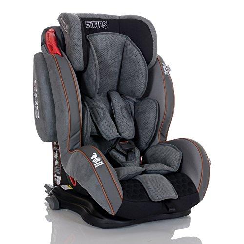 Seggiolino Auto GT Isofix 9-36 kg Reclinabile Bambini Gruppo 1 2 3, Grigio