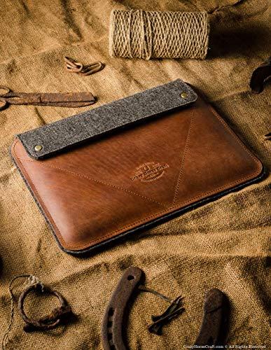 iPad Pro 12.9 inch, iPad 10.2 Zoll Ledertasche/Hülle | Classic Brown, iPad Pro 11 Zoll, 100{bb05fb5405bd5d0d1957874a8e1c67bb1b1d87a32a00370e45981e5f0a384fd8} Wollfilz, Apple, Vintage Crazy Horse Leder, Tablettständer, 2019 iPad Air 10.5 Cover, Crazy Horse Craft