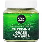 Urban Platter Three-in-1 Grass Powders, 100g [Mixture of Wheatgrass, Barley & Alfalfa]