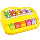#9: higadget™ Musical Xylophone and Mini Piano, Non Toxic, Non-battery