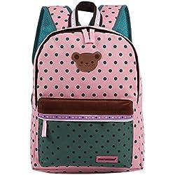 Happy cherry - Mochila Infantil de Escuela Primaria Estudiantes con puntos para Niños niñas - color 1