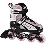SFR Vortex Rose Inline Skates Size Medium Jnr 12 - UK 2