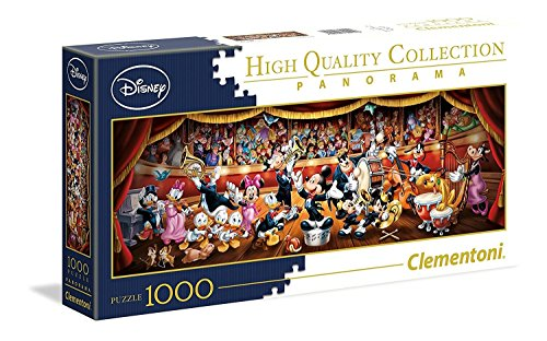 Clementoni Orchestra Disney Panorama Collection Puzzle, 1000 Pezzi, 39445