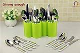 #1: HOME CUBE® Plastic Kitchen Utensil Holder Dinnerware Rack Tableware Organizer Boxes Spoon Rest Fork Stand Knife Box - Random Color