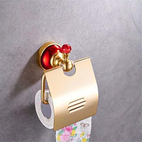 Bathroom Accessories Badaccessoires Sets European Aluminium antiken roten Basis, Badezimmerarmaturen, Seife, WC Bürste Rack, Toilettenpapierhalter - Aluminium-basis
