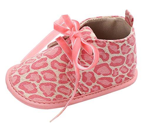 Y-BOA Chaussure Chausson Toddler Boots Bébé Fille Léopard Nœuds Papillon Anniversaire Baptême