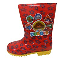 Hey Duggee Boys Wellington Rain Boots Red