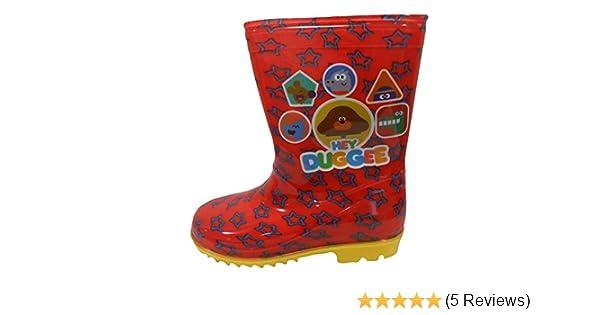 BOYS HEY DUGGEE RED WELLIES RAIN OFFICIAL WELLINGTON BOOTS KIDS UK SIZE 5-10